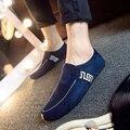 Zapatos de los hombres zapatos de Conducción ocasionales mocasines de gamuza de cuero de Moda de Los Hombres de los holgazanes Slip-on Estilo británico de la vendimia Zapatos Hombre F0185