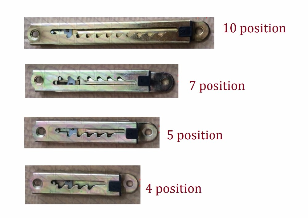 Linear 4 5 7 10 Position Ratchet Length Height Adjuster Mechanism For Bed Sofa Headrest ratchet ratchet