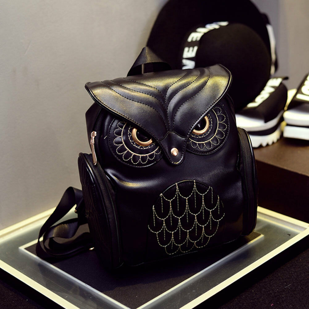 Fashion Women Ladies Soft Leather Shoulder Bags Backpack Messenger Women's Backpack Girls Solid Owl Bagpack Bags For Women 2019