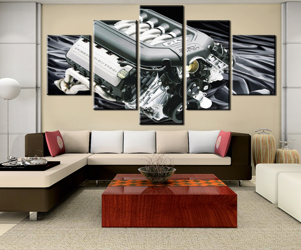 HD Print Painting 5 Pieces Print Picture Poster Coyote engine For Modern Decorative Bedroom Living Room Home Wall Art Decor