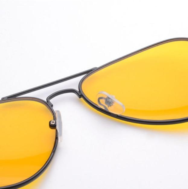 Fashion Men Car Night Vision Driving HD Glasses Anti-Glaring UV400 Yellow Lens Driver Safety Aviator Sunglasses Eye Wear Goggle