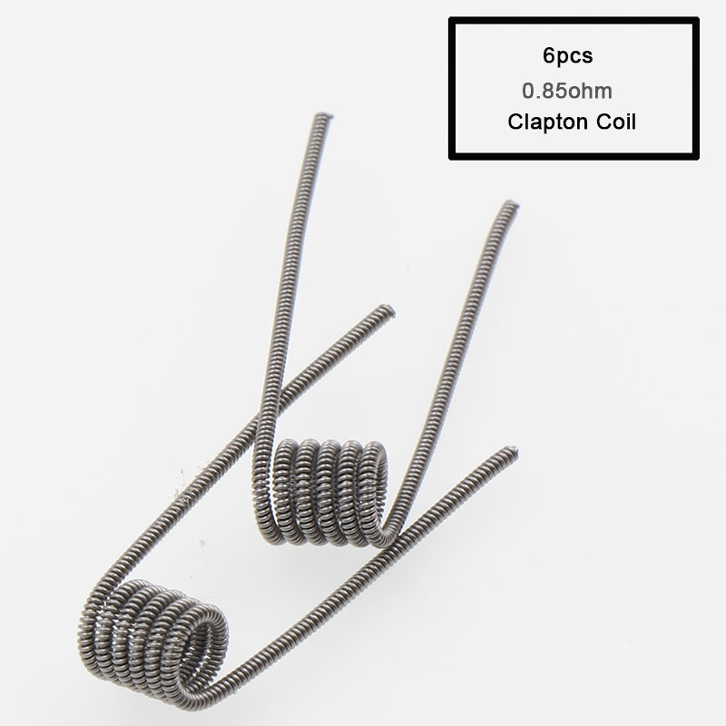 , XFKM 8 in 1 Prebuilt Coil Clapton Coil Alien Tiger Hive Quad Flat twisted Fused Heating Wire for Vape DIY E Cig Premade Coil