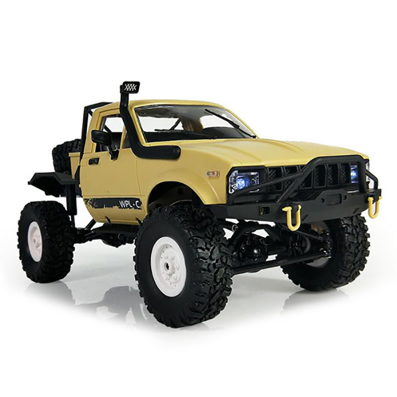 High Speed RC Cars 1:16 2.4G 2CH 4WD Mini Off-Road RC Semi-Truck With Metal Chassis TPR Tires 15km/H Top Speed RC Racing Car Toy