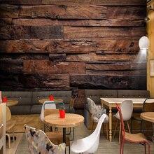 3D Wallpaper Murals Retro Nostalgic Wood Panels for Vintage Lover
