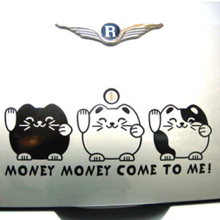 Funny lucky cat money come to me side door windshield rear car stickers and decals in car stickers from automobiles motorcycles on aliexpress com
