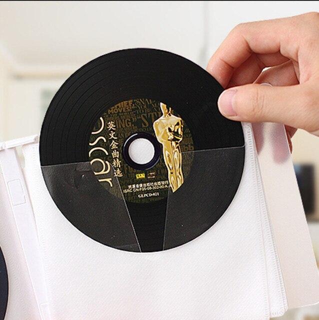 New Fashion White Double Side Portable 24 Disc Cd Dvd Storage Box Al