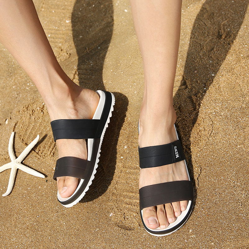 LAISUMK Summer Beach Men Slippers Casual Shoes Double Buckle Man Slip on Flip Flops Flats Camouflage Flip Flop Indoor & Outdoor 88