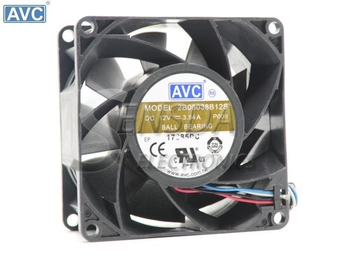 For AVC DA09025T12U P001 DC12V 0.7A Server Round Fan 95x95x25mm 4-wire pwm cooling fan
