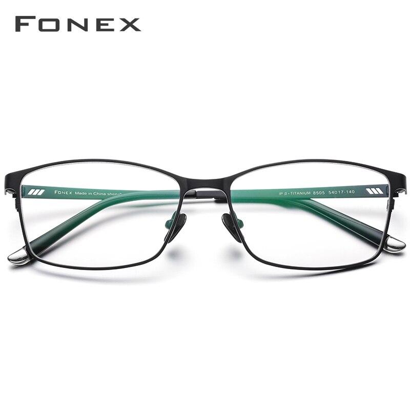 Titane pur Prescription lunettes cadre hommes carré lunettes 2019 mâle classique plein optique lunettes montures Gafas Oculos 8505 - 2