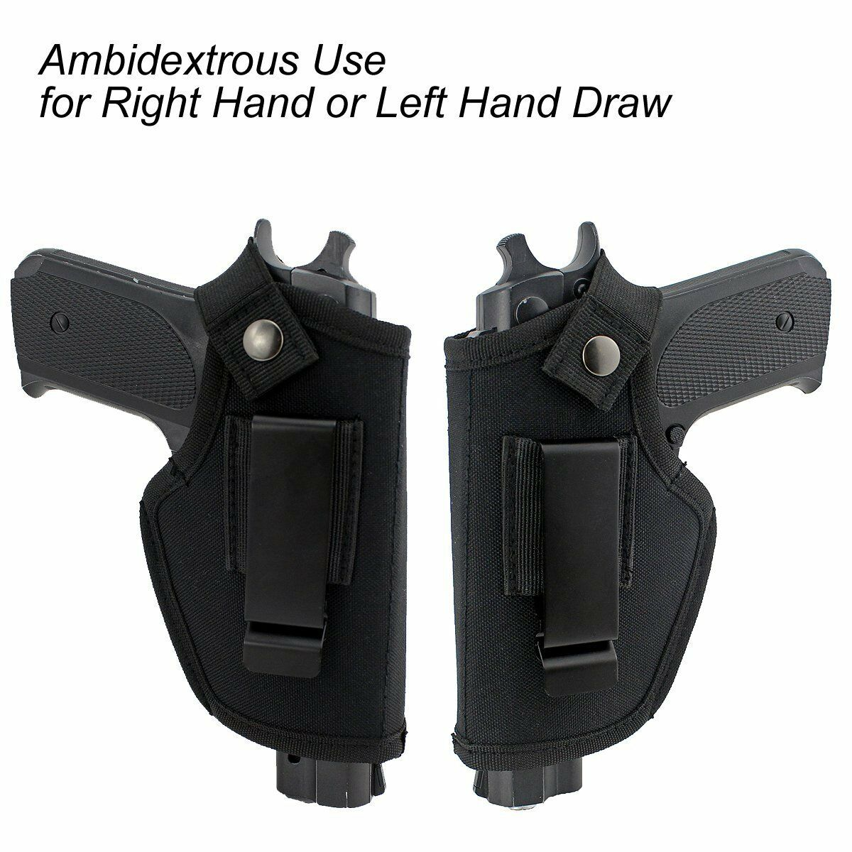 Image 4 - Hunting Concealed Carry gun Holsters with Metal Clip IWB OWB Holster Bag For All Sizes Handguns-in Holsters from Sports & Entertainment