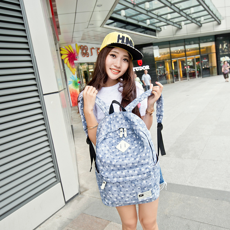 Fashion Cute Book Bags Floral High Quality Canvas Printing Backpack Women School Bag Backpacks for Teenage
