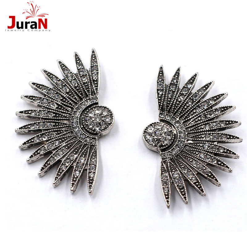 JURAN Simple Earings Trend Fashion Fanshaped Earrings For Women Vintage Big Statement Earring 2018 Nye smykker Engros D2307