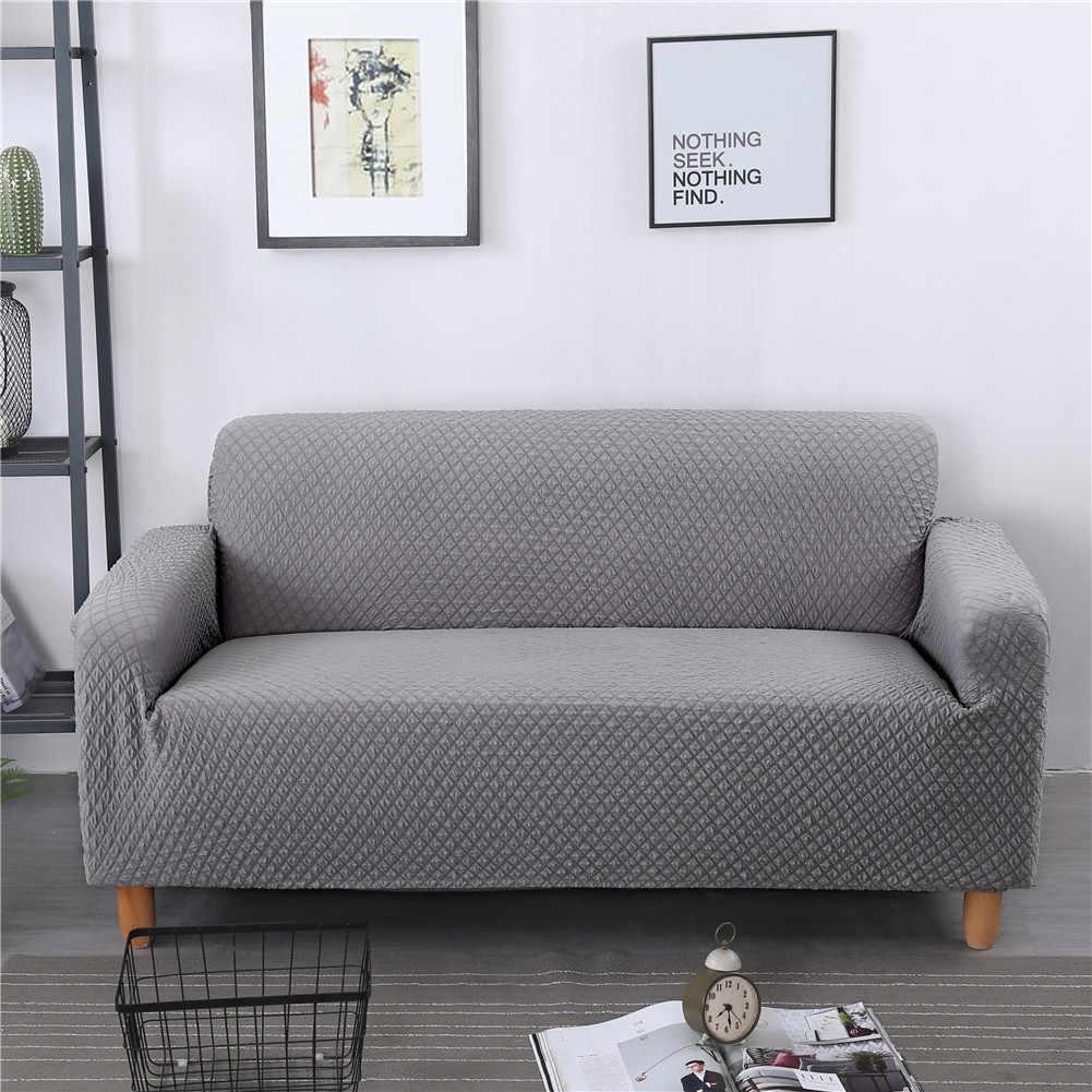 Плотный вязаный плед стрейч ткань эластичный сплошной разноцветной чехол для кресла диван для влюбленных все включено спандекс чехлы для диванов