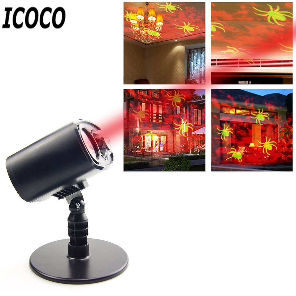 ICOCO LED Moving Landscape Projector Light Spotlight Stake Lamp for Christmas Halloween Festival Holiday Decor Lighting New
