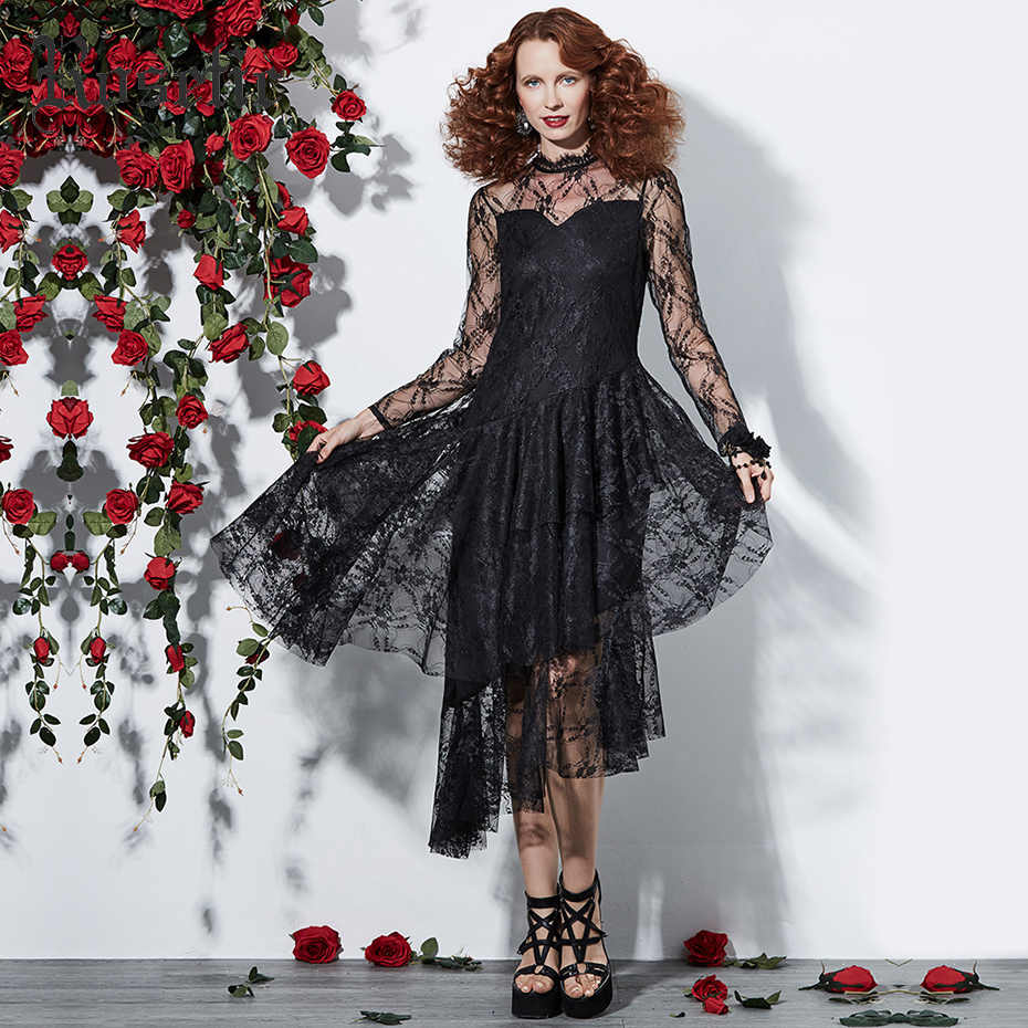 4cbf24ad3215 Detail Feedback Questions about Rosetic Gothic Dress Women Black ...