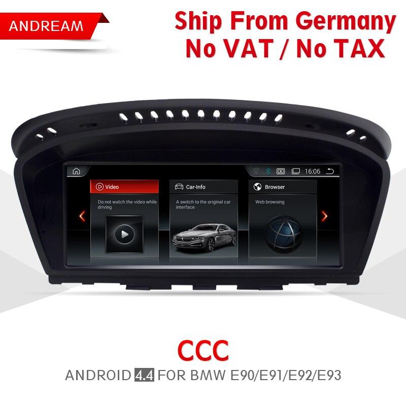 8.8 Quad Core Android Vehicle multimedia player For BMW Series 3 E90 E91 E92 E93 M3 gps navigation Wifi Germany Ship EW963A-CCC