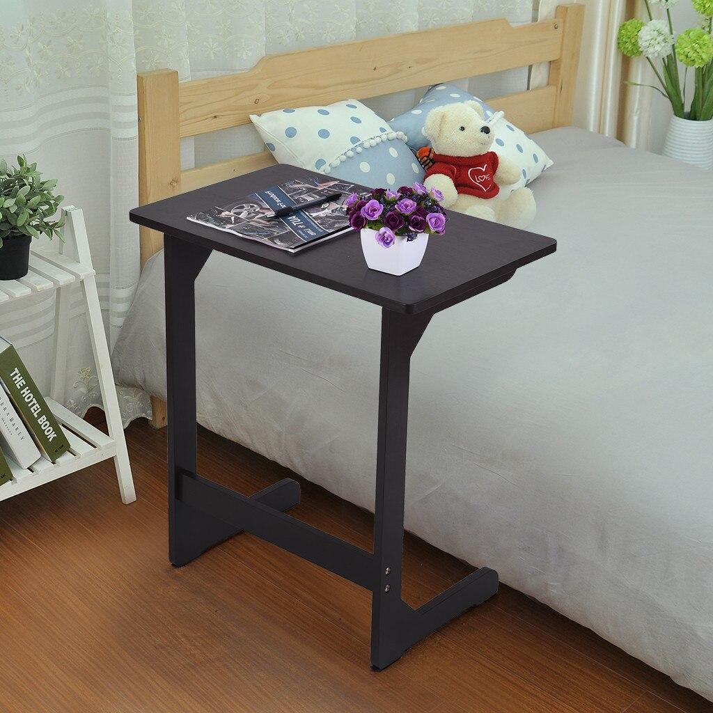 Компьютерный стол Бамбуковый стол для закусок диван кофейный стол прикроватный столик ноутбук стол стоячий стол подставка для ноутбука дропшиппинг - 4