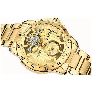 Image 3 - Eyki marque métal creux volant mécanique montres mode Fine luxe en acier inoxydable bracelet de montre hommes athlétique montres bijoux