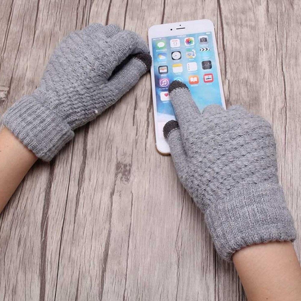 Smartphone Écran Palpable Gants Femmes Fille Femme Stretch Tricoté Gants  Mitaines Hiver Chaud Épais Accessoires De Laine Gants 3069d9926ee