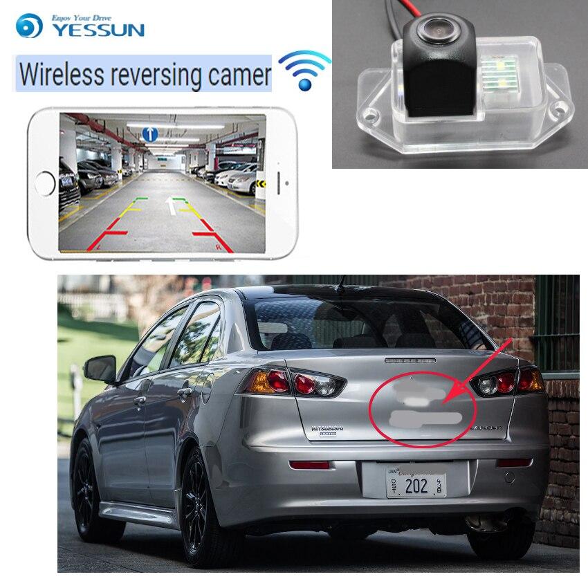 YESSUN voiture nouvelle caméra arrière sans fil hd pour Mitsubishi Lancer EX Evolution X 2007 ~ 2015 pour Proton Inspira (malaisie) 2007 ~ 2015