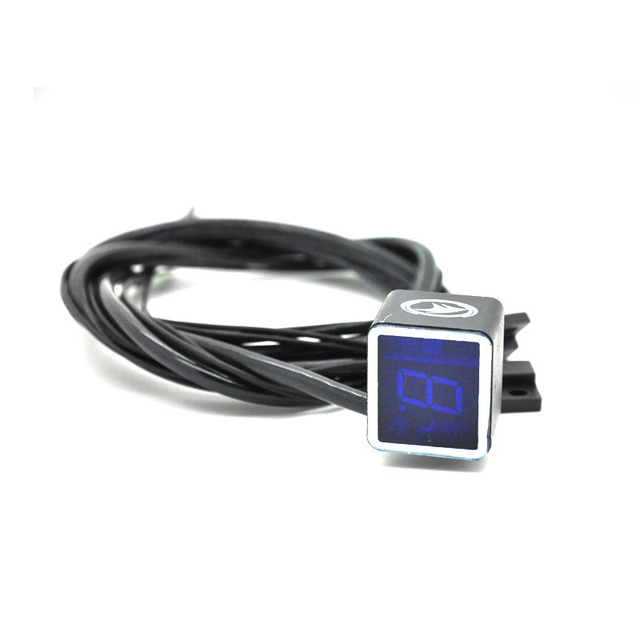 Digital Gear Indicator For Motorcycle Light Neutral Display Shift Lever Sensor Bule Color New