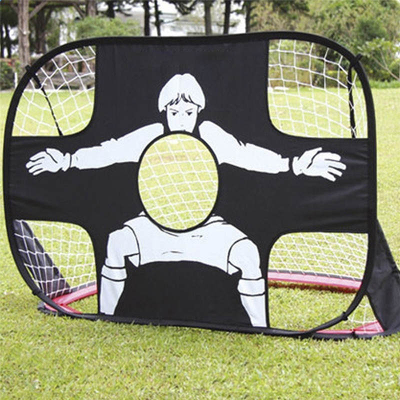 2 In 1 Foldable Football Gate Net Teenager Durable Target Shot Soccer Goal Practice Gate Outdoor