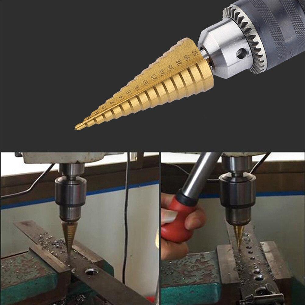 1pc 4-12/4-20mm HSS Spiral Center Step Drill Bit Solid Carbide Mini Drill Accessories Metal Titanium Step Drill Bit
