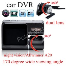Buy online hot sale Car DVR I1000 HD Vehicle Camera Video Recorder with rear camera night vision camcorder 170 degree wide viewing angle