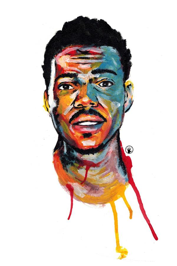 Custom Canvas Wall Decor Chance the Rapper Poster Fantasy Colorful Painting Wall Stickers Office Mural Acid Rap Wallpaper #1528#