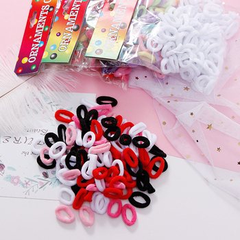 100pcs Wholesale Girls 1.5cm Colorful Small Ring Elastic Hair Bands Ponytail Holder Rubber Bands Scrunchie Kids Hair Accessories 1