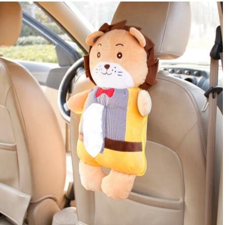 Korean version of the chair back hanging car interior tissue box pillow creative automotive supplies cartoon cushions