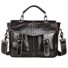 Genuine leather bags Designer Men Crossbody Bag Wax oil skin messenger bags Men's iPad handbags