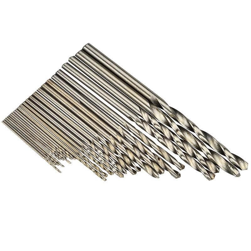 25 Pcs Hss Micro Twist Drill Bit Set 0.5mm~3mm High Speed Steel Pcb Mini Drill Jewelry Tools For Dremel Bit