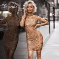 Free Shipping! 2017 New Fashion Gold Floral Beading Embellished Patchwork Club Celebrity Party Wholesale Women Bandage Dress