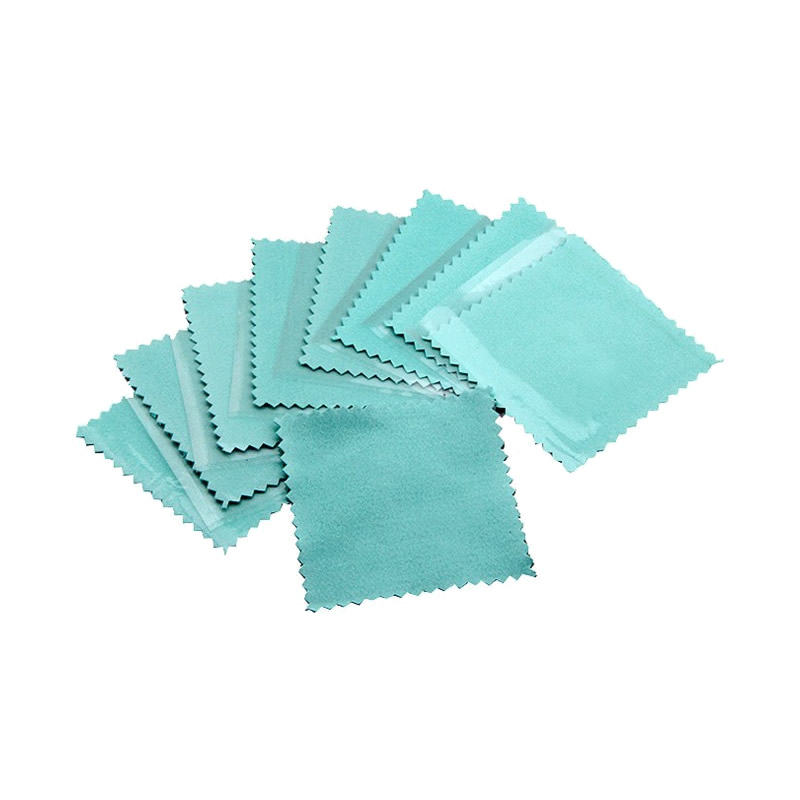 10PCS Silver Polishing Cloth blue Cleaning Cleaner