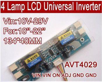 цена на Free shipping AVT4029 PC LCD MONITOR CCFL 4 LAMP universal lcd inverter board,4 Lamp 10V-29V For 10-22 screen