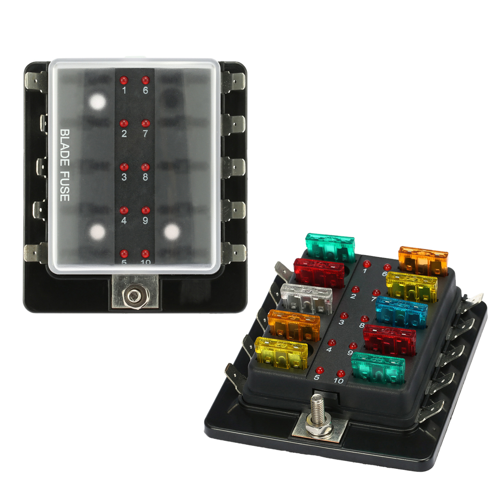 10 Way Blade Fuse Box Holder Block Set With Led Warning Light Kit The Game 1 We Accept Alipay West Union Tt All Major Credit Cards Are Accepted Through Secure Payment Processor Escrow