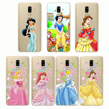 Castle Princess White Snow Prince Cartoon Phone Case Back Cover Silicone Soft for Samsung J7 J8 2018 J7 Plus J6 J5 J4 Plus цена
