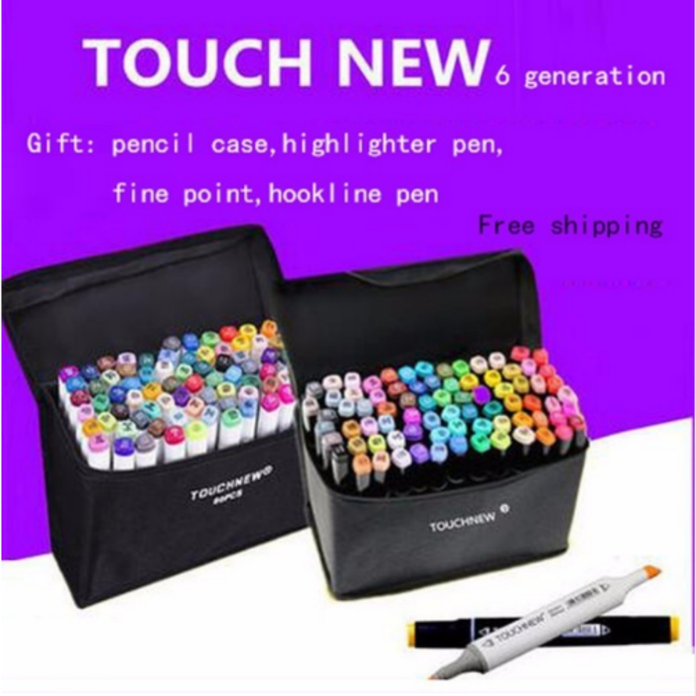 Free shipping six generations mark pen Alcohol oily student hand-painted design 30 36 72 colors fine markers sketch manga draw touchnew 60 colors artist dual head sketch markers for manga marker school drawing marker pen design supplies 5type