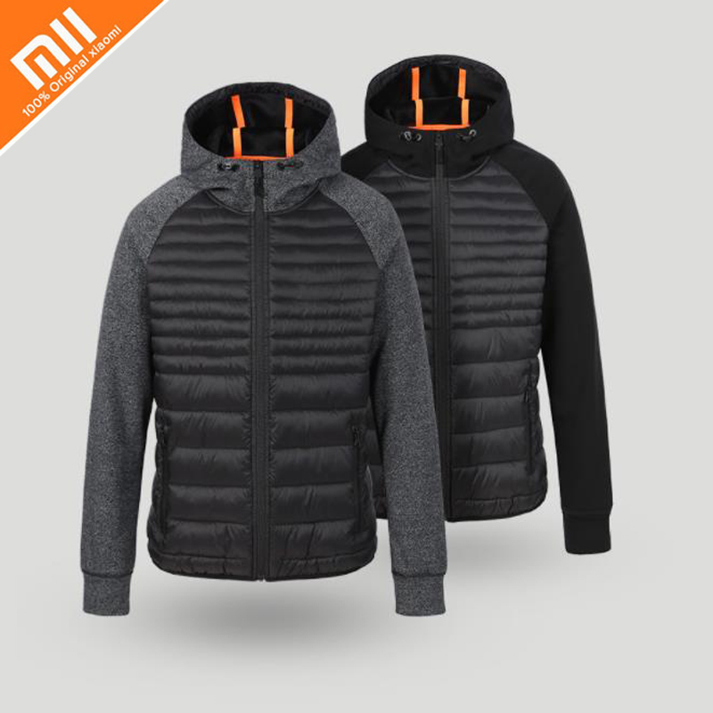 Xiaomi MIJIA Uleemark Men Cotton-padded Clothes Sports Series Winter Autumn Outdoor Spliced Sportswear Camping Male Jacket Coat