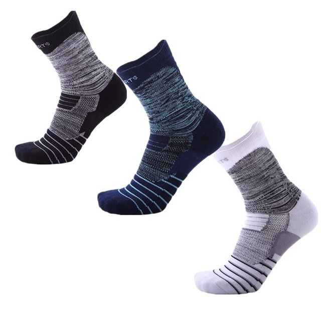 cf421fc8cb Men Women Professional Sports elite basketball Socks striped Soccer Cycling  Running Fitness high elastic breathable Cotton Sock