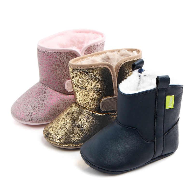 Baby Shoes Girls Toddler Princess Warm Shoes Kid Boots Winter Boys First Walker Newborn Prewalker Infant Anti-slip Short Booties