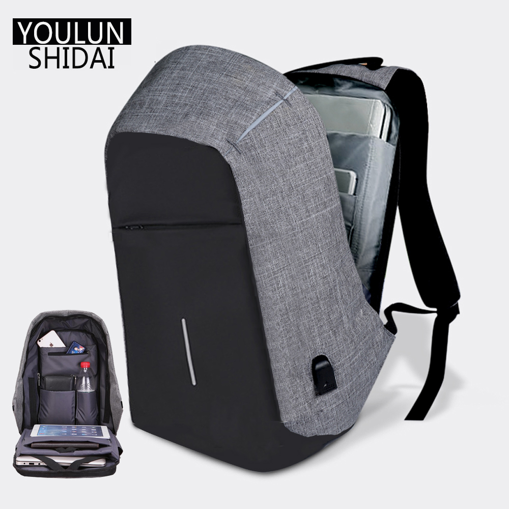 Youlunshidai Multifunction Anti-theft USB Charging 15inch Laptop Backpacks For Teenager Men And Wome Fashion Travel Backpack
