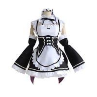 Re Zero Kara Hajimeru Isekai Seikatsu Rem Ram Cosplay Costume Kawaii Maid Costume Dress New