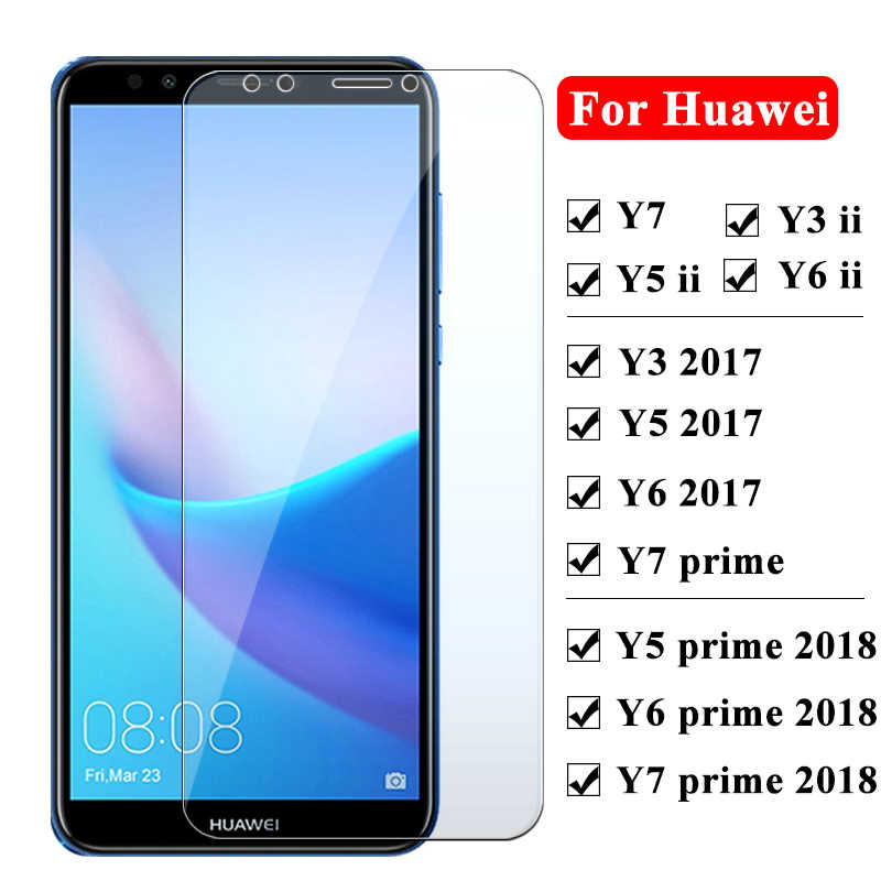 Protective glass for Huawei y5 y6 y3 y7 prime ii 2018 2017 screen protector for huawei y6ii y5ii y3ii Tempered Glass Y 3 5 6 7
