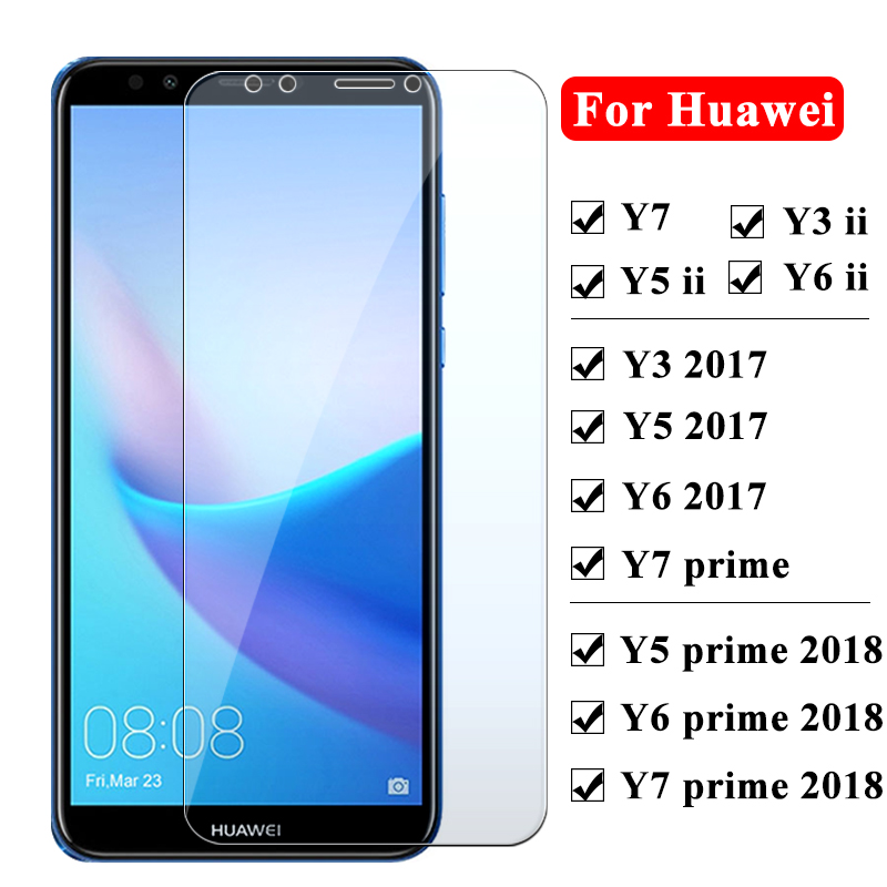Protective <font><b>glass</b></font> for <font><b>Huawei</b></font> y5 <font><b>y6</b></font> y3 y7 prime ii 2018 <font><b>2017</b></font> screen protector for <font><b>huawei</b></font> y6ii y5ii y3ii <font><b>Tempered</b></font> <font><b>Glass</b></font> Y 3 5 6 7 image