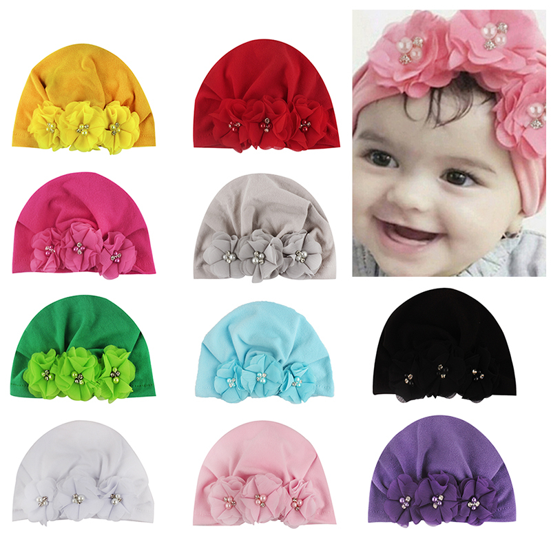 2019 New 10 Colors Infant Headbands Turban Headband For Girls Stretchy Beanie Hat Headwear Baby Hair Accessories For Baby Gift