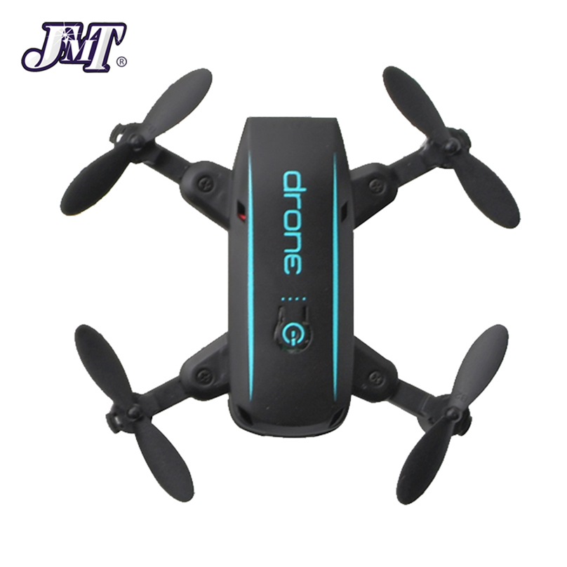 JMT 1601 Mini Foldable Drones with Camera HD 0.3MP 2MP Real Time Video Altitude Hold Drone WIFI FPV RC Quadcopter Toys Drone free shipping hmdvr mini digital audio video recorder 30fps for fpv drones quadcopter qav250 kvadrokopter rc drone