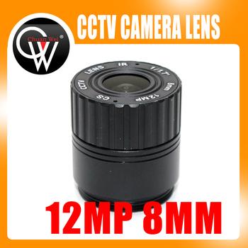 12MP 8mm obiektyw 1 1 7 #8222 4 K megapikseli obiektywy kamery przemysłowej korekcją podczerwieni F1 7 CS do montażu 55 6 stopni dla UHD kamera ochrony tanie i dobre opinie CW12MP08CS 8 0mm Chuan Wei Brak Metal glass 1 1 7 0 3m 12 0 MegaPixel F2 0 Manual
