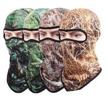 Quick Dry Breathable Camouflage Hood Outdoor Hunting Headgear CS Face Mask Tactical Military Hat Fishing Cover